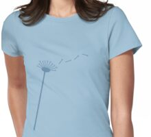 Dandelion wish in Blue Womens Fitted T-Shirt