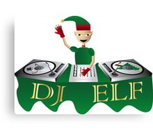 DJ Elf Canvas Print