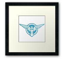 SSR Blue Framed Print