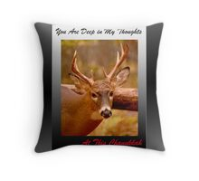 Deep Thoughts Chanukkah (holiday card) Throw Pillow