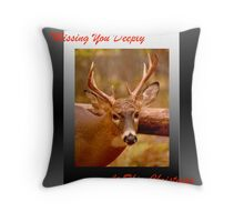 Missing you at Christmas (holiday card) Throw Pillow