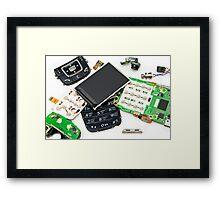 disassembled phone  Framed Print