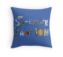Science Fiction Typography Throw Pillow
