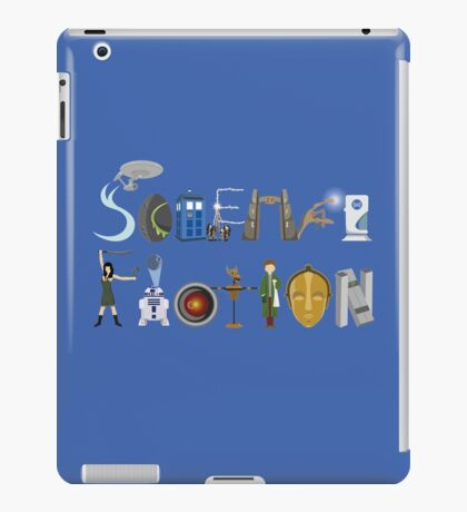 Science Fiction Typography iPad Case/Skin