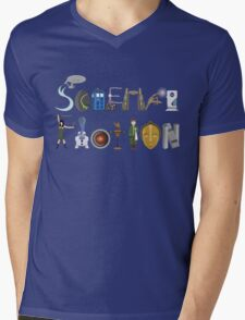 Science Fiction Typography Mens V-Neck T-Shirt