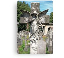Angel with bowed head Brompton Cemetery Canvas Print