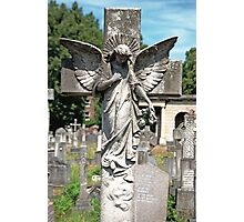 Angel with bowed head Brompton Cemetery Photographic Print