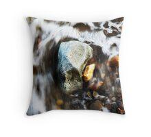 Water & Rocks Throw Pillow