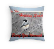 Warm Holidays (holiday card) Throw Pillow