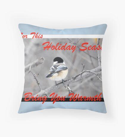 Warm Holidays (holiday card) Throw Pillow
