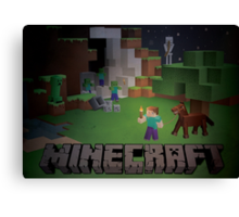 Minecraft - Dangers in the night Canvas Print