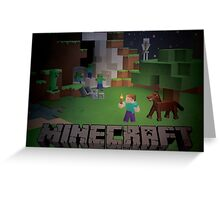 Minecraft - Dangers in the night Greeting Card