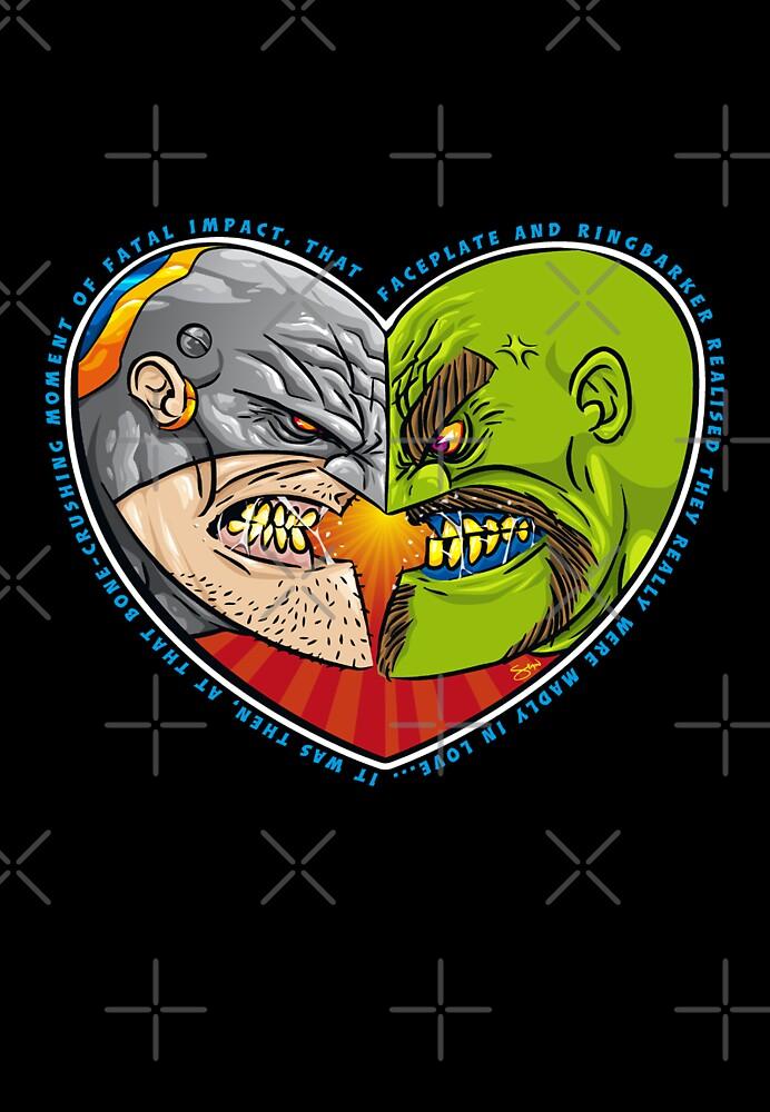Mutant Vs Cyborg: A Love Story - card sized by Simon Sherry