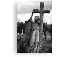 Angel with cross Brompton Cemetery Canvas Print