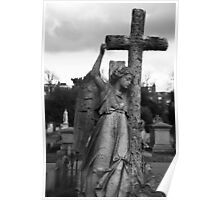 Angel with cross Brompton Cemetery Poster