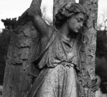 Angel with cross Brompton Cemetery Sticker