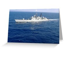 HMS Manchester Greeting Card
