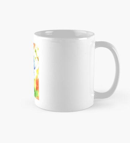 Modern Blue Pansy Mug