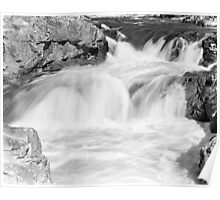 Glen Etive Waterfalls Poster