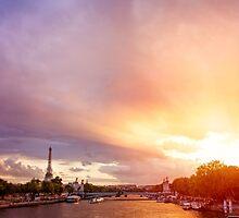 Sunset on the Seine by Austen Risolvato
