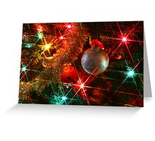 Ornament With Lights Greeting Card