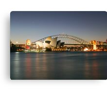 Sydney Icons - Opera House and Harbour Bridge Canvas Print