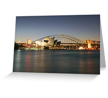 Sydney Icons - Opera House and Harbour Bridge Greeting Card