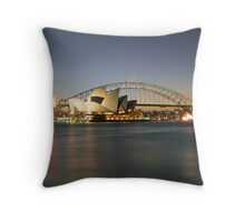 Sydney Icons - Opera House and Harbour Bridge Throw Pillow