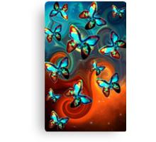 Galactic Butterflys Canvas Print