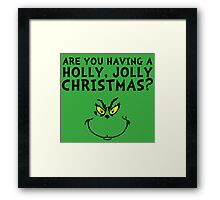 A holly, jolly Christmas? Framed Print