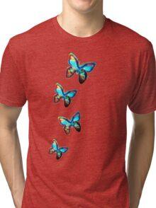 Space Butterfly, Butterflies, Galaxy, Universe, Planet, Nature Tri-blend T-Shirt