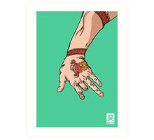 'The hand with the dragon tattoo' Art Print