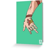 'The hand with the dragon tattoo' Greeting Card