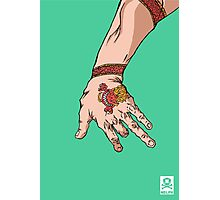 'The hand with the dragon tattoo' Photographic Print