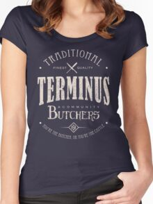 Terminus Butchers (light) Women's Fitted Scoop T-Shirt