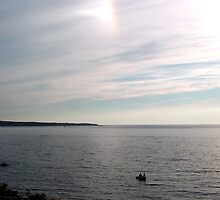 Sundog and fishermen by Roslyn Lunetta