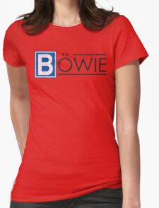 Bowie's Berlin - U-Bahn Logo Womens Fitted T-Shirt