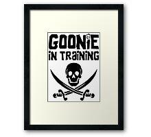 Goonie in Training Framed Print