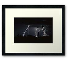 Four Strikes Framed Print