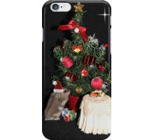 Skittles Decorating her Christmas Tree iPhone Case/Skin