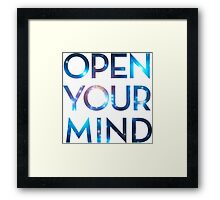 OPEN YOUR MIND, Galaxy, Space, Universe, Star Framed Print