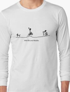Mid Life And Mobile - Cycling Cartoon T-Shirt