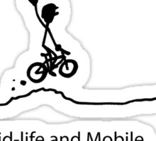 Mid Life And Mobile - Cycling Cartoon Sticker