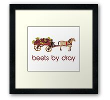Beets by Horse Drawn Dray Framed Print