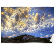 Clouds over Cala Llonga Poster