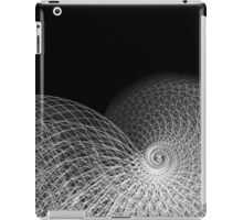 Wire and Line Snail Spiral Illustration iPad Case/Skin