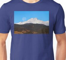 Full Moon Setting Over Snow Covered Twin Peaks  Unisex T-Shirt