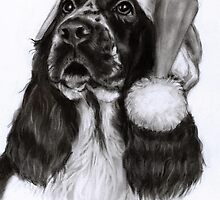 English Springer Spaniel by Danguole Serstinskaja
