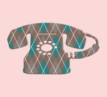 Argyle Vintage Rotary Telephone One Piece - Short Sleeve