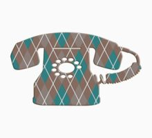 Argyle Vintage Rotary Telephone Kids Clothes
